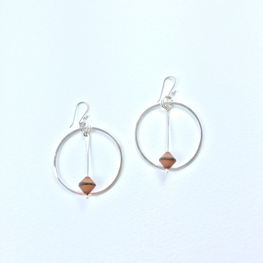 Buri Nut and Sterling Silver