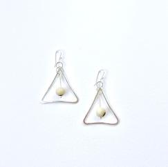 Bone and silver mod triangles