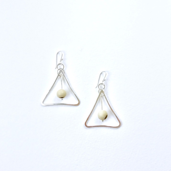 Bone and silver mod triangles