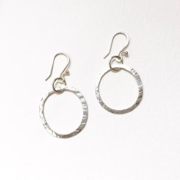 Textured silver circles