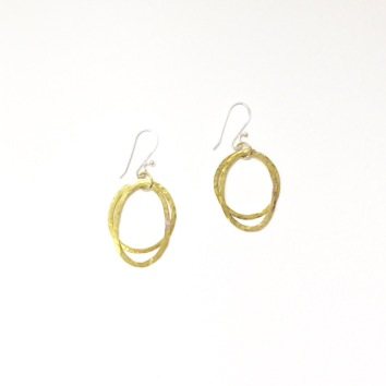 Brass dangle circles