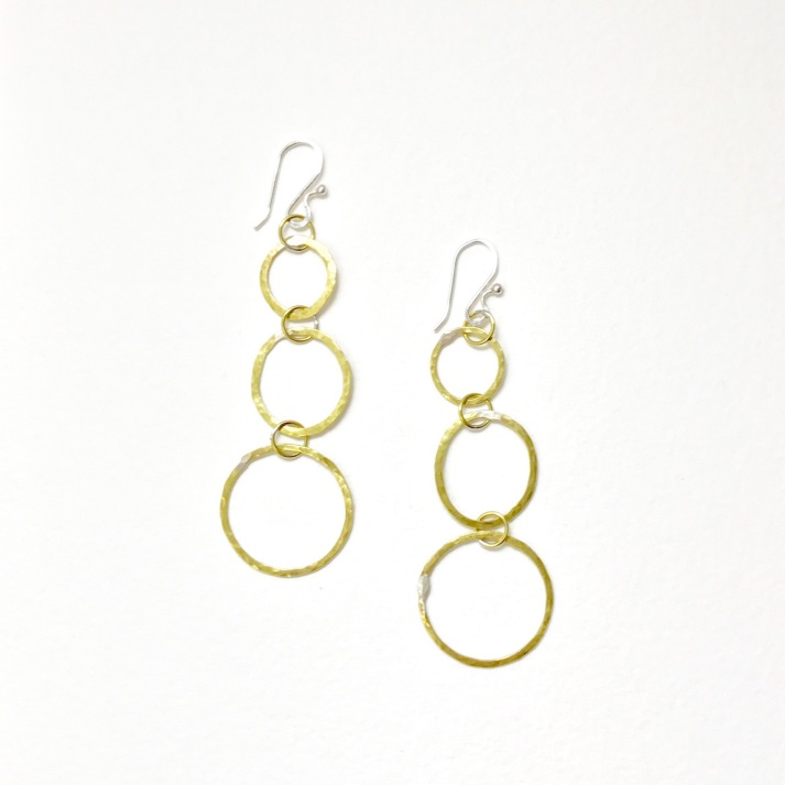 Triple dangle hoops