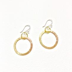 Brass textured circles