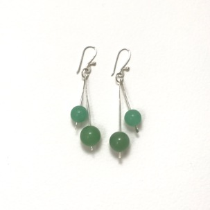 Aventurine waterfall dangles