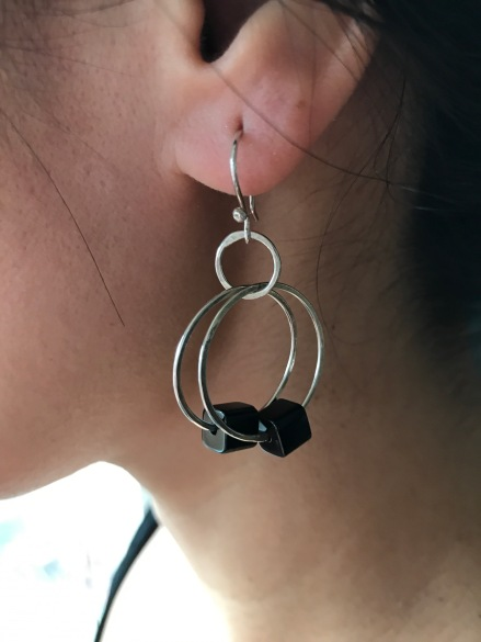 Double hoop with black squares