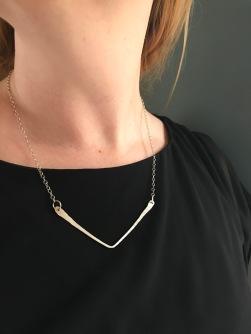 Large Chevron Necklace