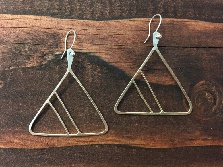 Mod Triangular Earrings