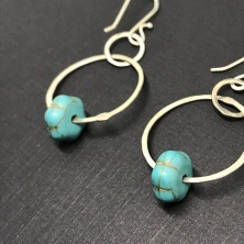 Turquoise Howlite Earrings