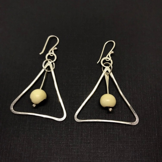 Bone earrings