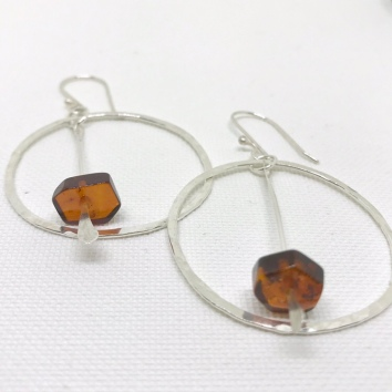 Baltic Amber Hoops