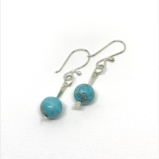 Blue Howlite Drops