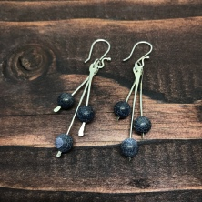 Black Agate Earrings